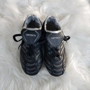 Toptech | Kids Youth Cleats Size 3 Black Laces